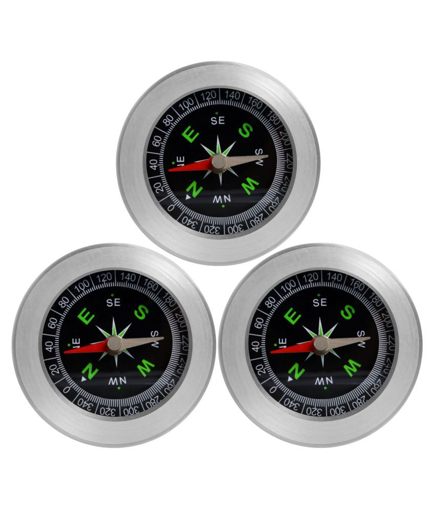 3 Pieces Big Size Military Magnetic Compass Fengshui Hiking Camping