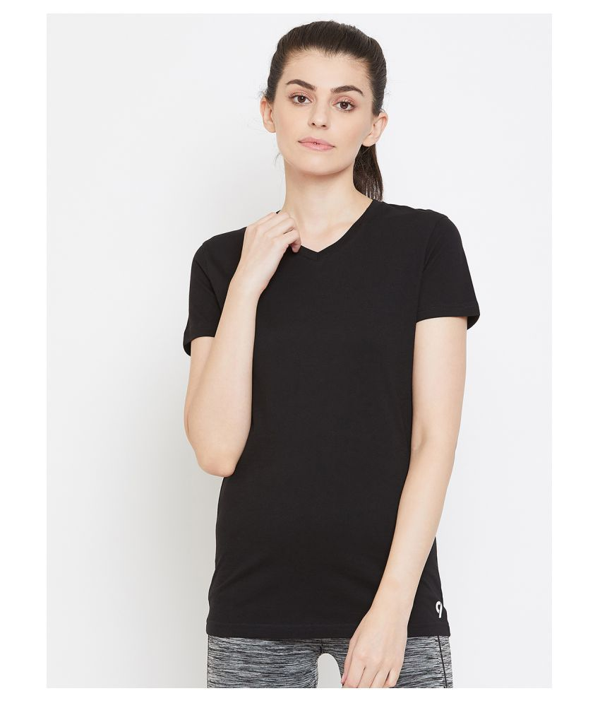 C9 Airwear Cotton Regular Tops - Black