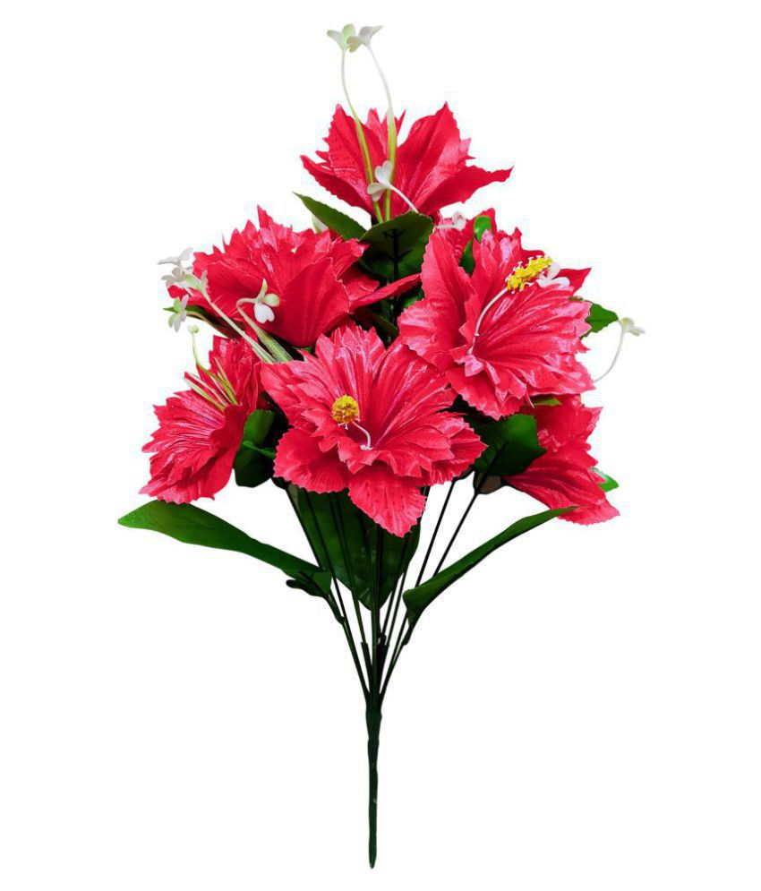 fns store Lotus Pink Artificial Flowers Bunch - Pack of 1
