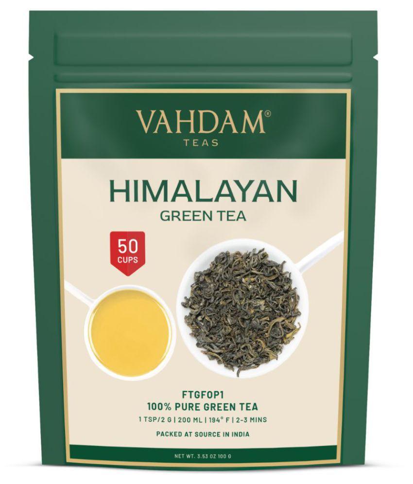 Vahdam Himalayan Green Loose Leaf Tea - 100 gm
