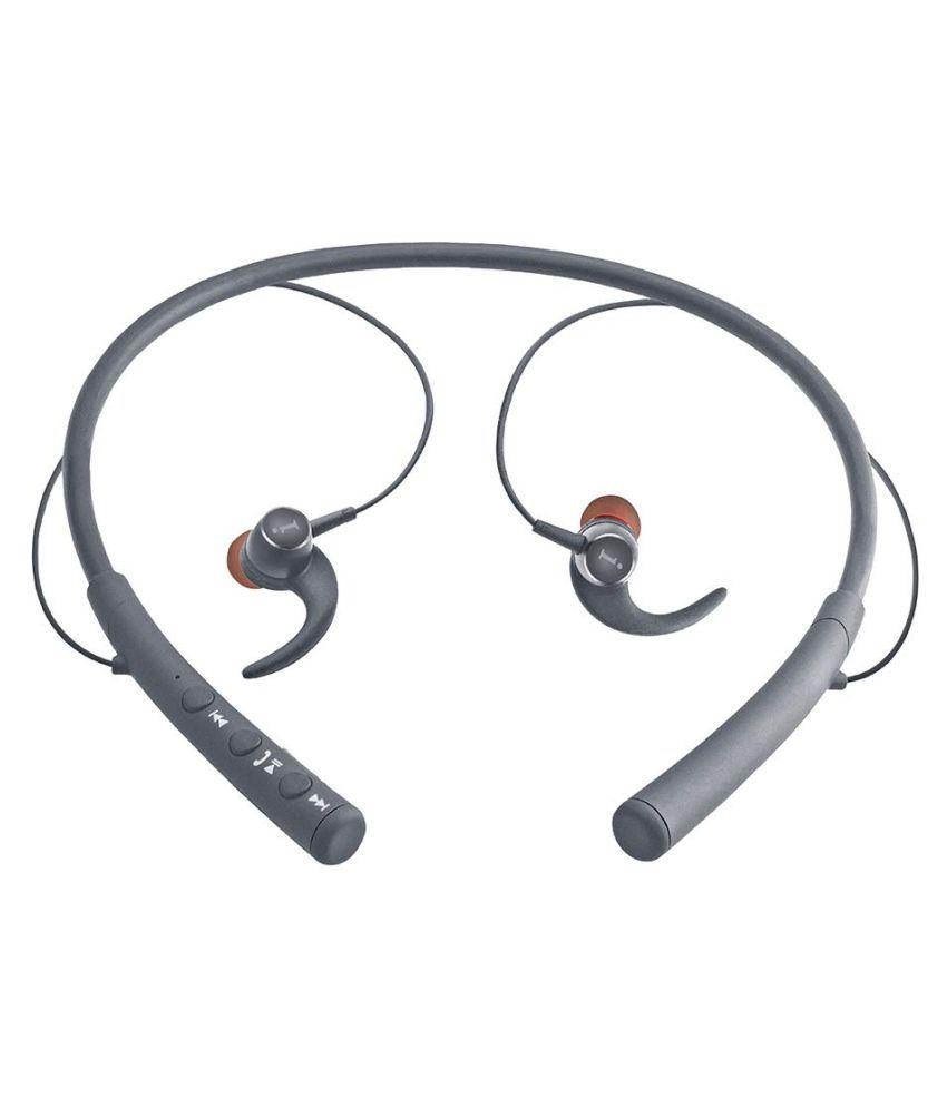 iBall Earwear Base Black Neckband Wireless With Mic Headphones/Earphones