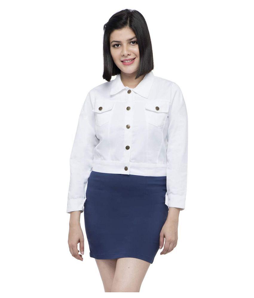 retrobella Cotton Blend White Jackets