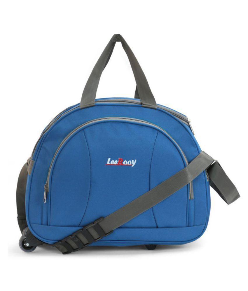 LeeRooy Blue M Duffle Bag