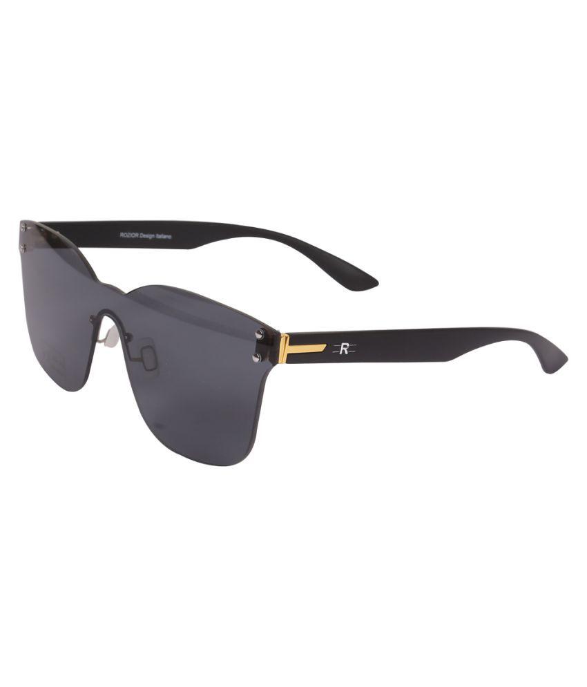 ROZIOR - Black Square Sunglasses ( Men/Women RWUF1001C1 )