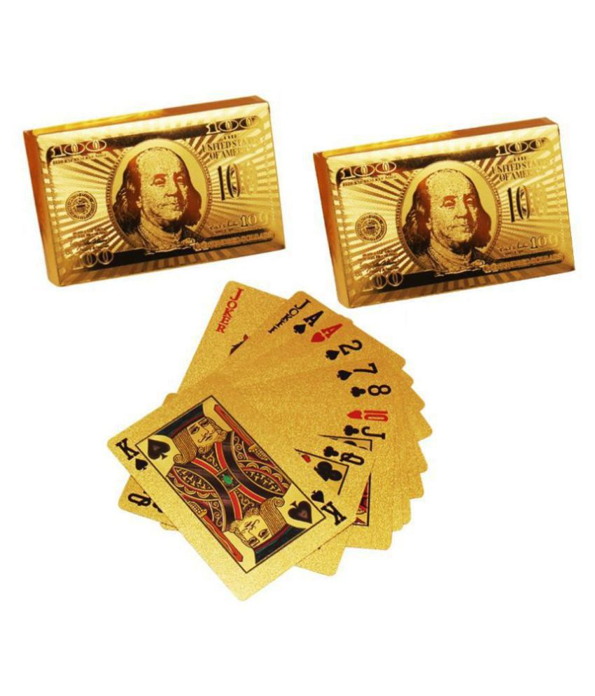 Luxantra 24k Gold Plated Poker Playing Cards Set of 2