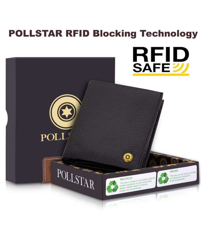 POLLSTAR Leather Black Casual Regular Wallet