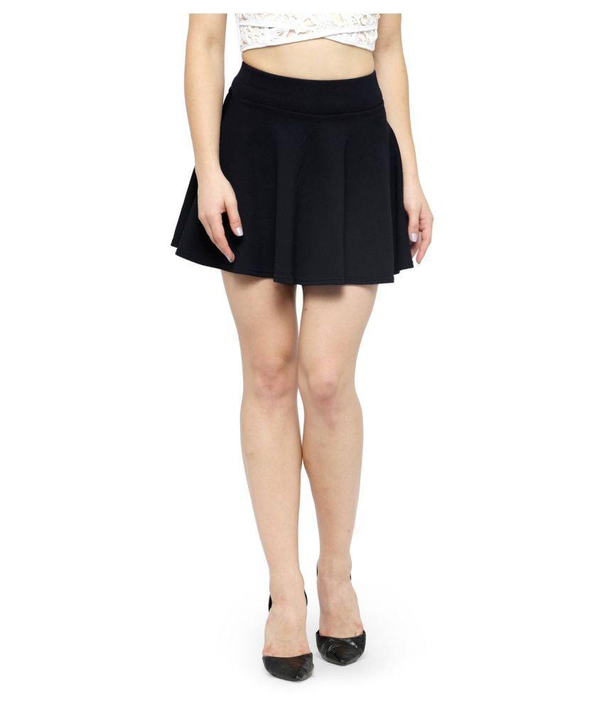 Avenew Fashions Cotton Highwaist Skirts - Black