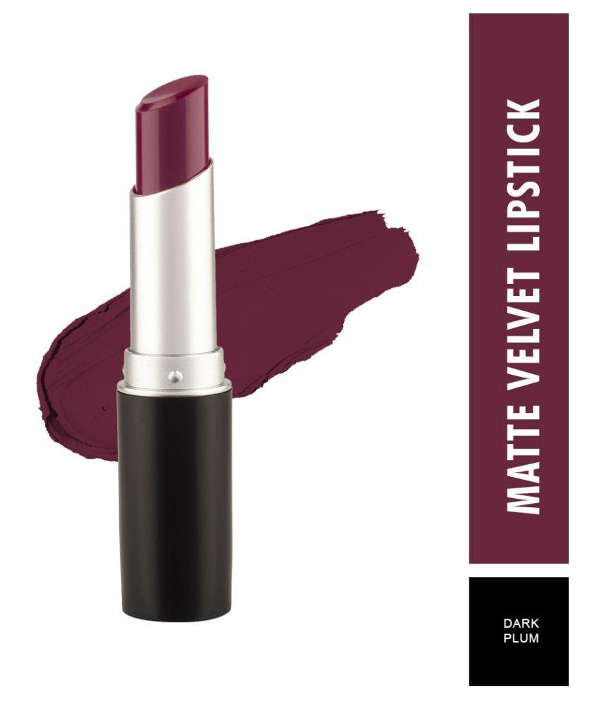 Swiss Beauty Matte smooth Velvet Lipstick (Dark Plum), 3.2gm