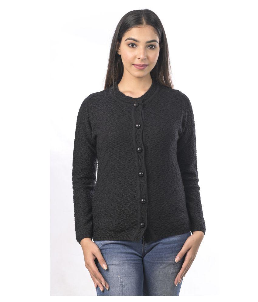 Varenyam Acrylic Black Pullovers