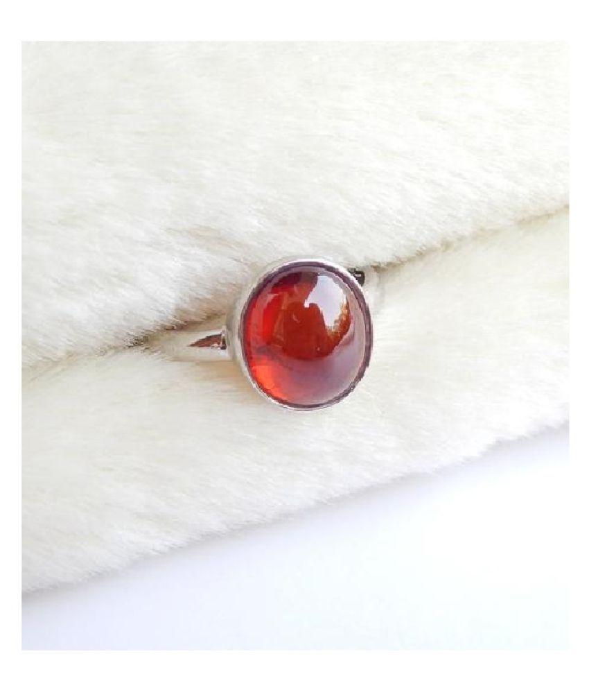 Hessonite Ring in 11 carat  Silver  by Ratan Bazaar