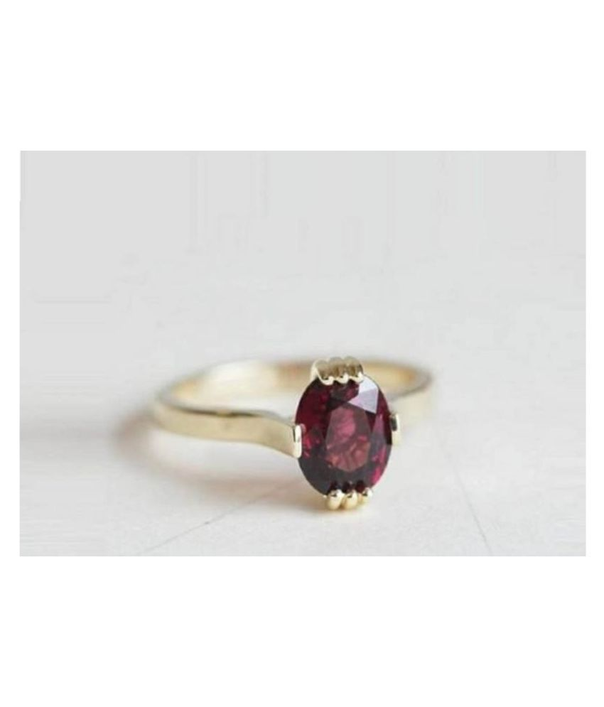 Natural & Lab Certified Hessonite stone  Gold Plated Ring for Women & Men
