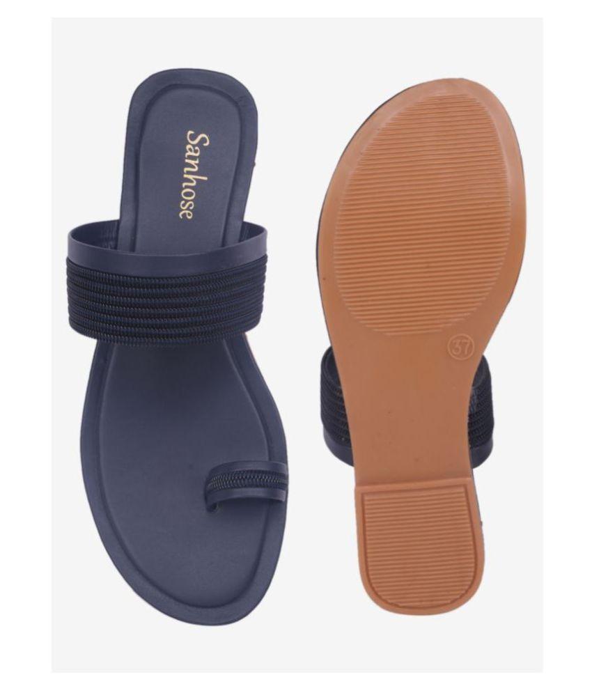 Sanhouse Navy Slippers