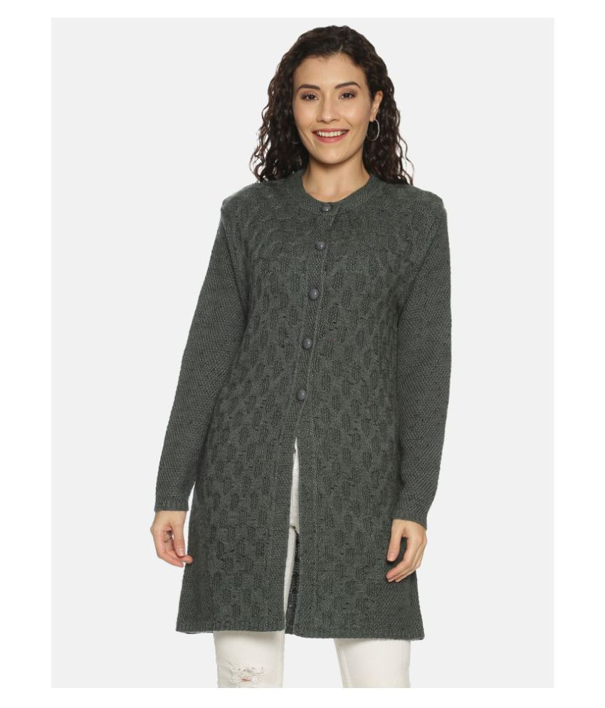Clapton Acrylic Grey Buttoned Cardigans