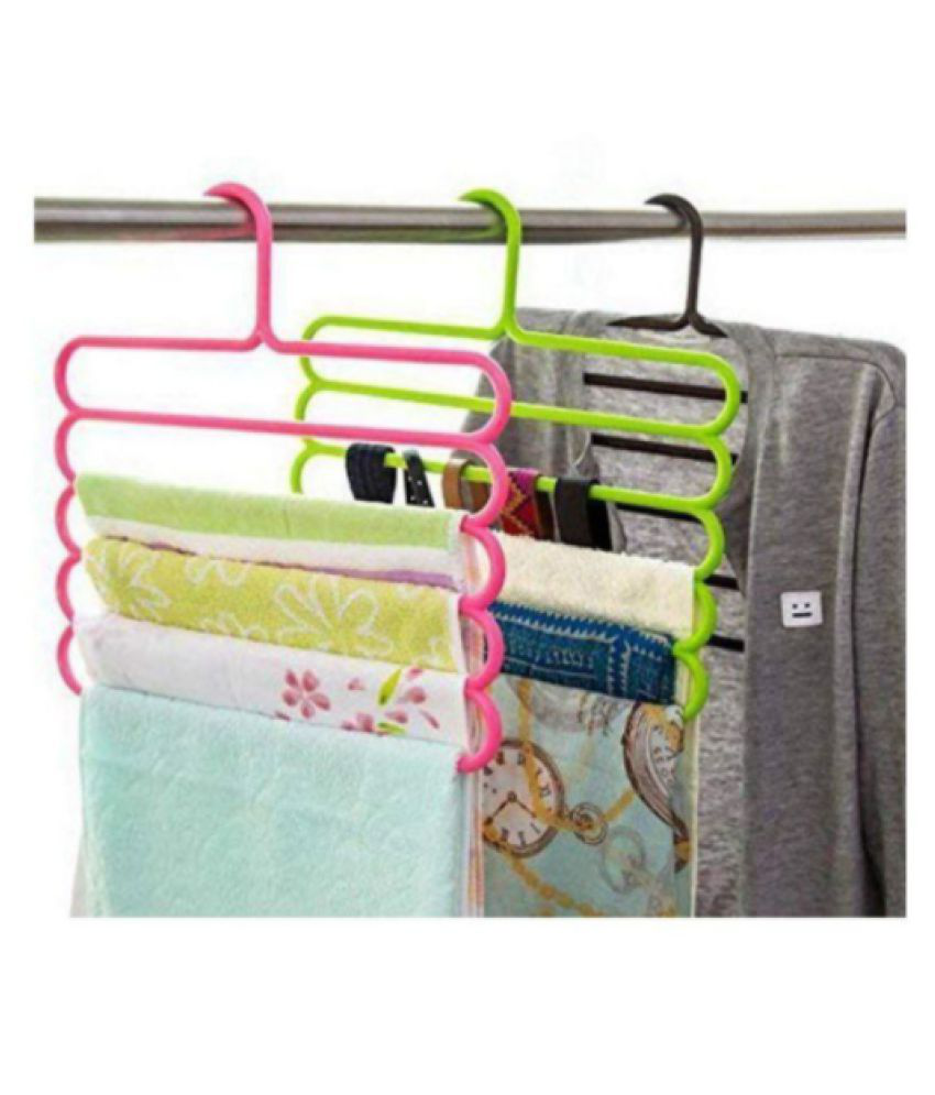 DIVTAM PRESENT MULTILAYER PLASTIC HANGER PACK OF FIVE CLOUR AVILABLE