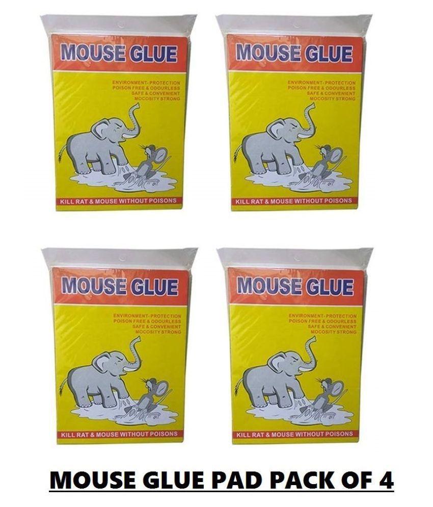 KIAT - Rat Trap | Mouse Glue Pad | Mouse Trap Non-Toxic Glue Pad|(Mouse Glue Pad)-Multi Colour-Pack of 4 Pieces
