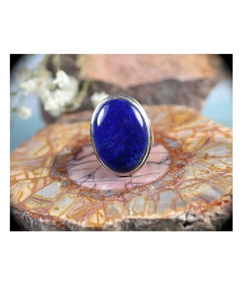 3 ratti Stone 100% Natural lapis lazuli  silver Ring by Kundli Gems\n
