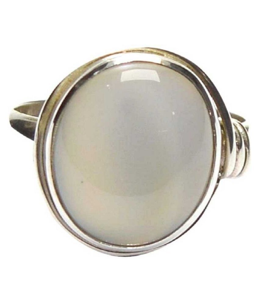 Natural Lab Certified 2.5 carat 100% Original MOONSTONE  Ring for unisex by Ratan Bazaar\n