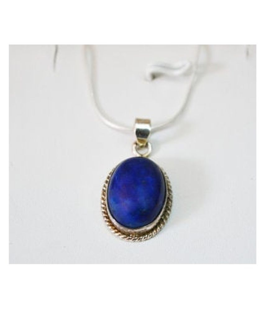 2.5 Ratti lapis lazuli  silver Pendantfor Unisex by Kundli Gems\n