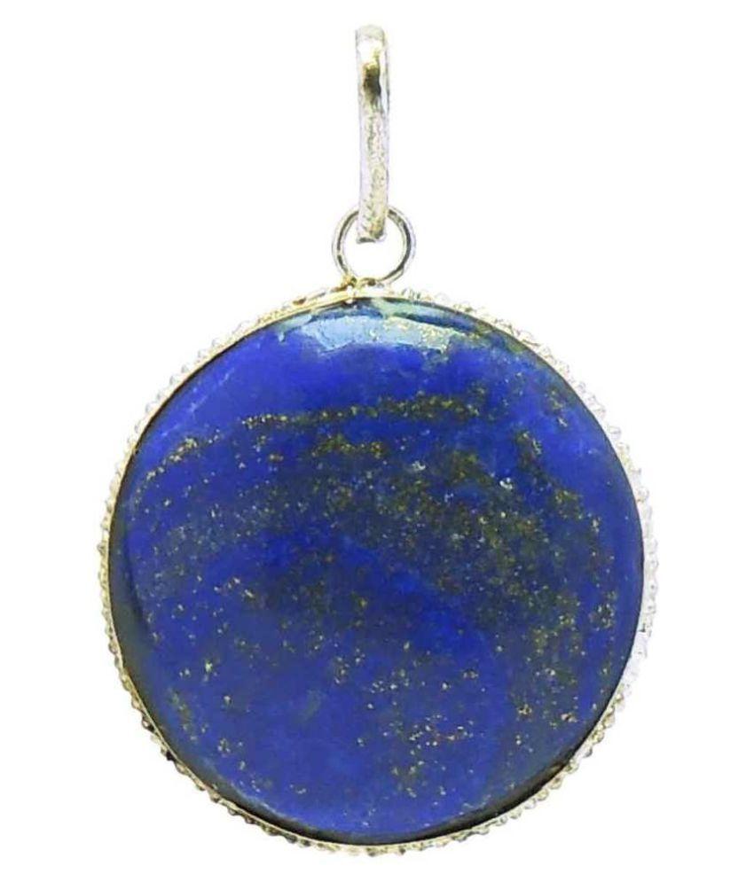 5 carat lapis lazuli Silver plated Pendantby  Kundli Gems