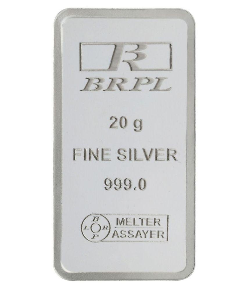 Bangalore Refinery P Ltd 20 gram Silver Plain Bar