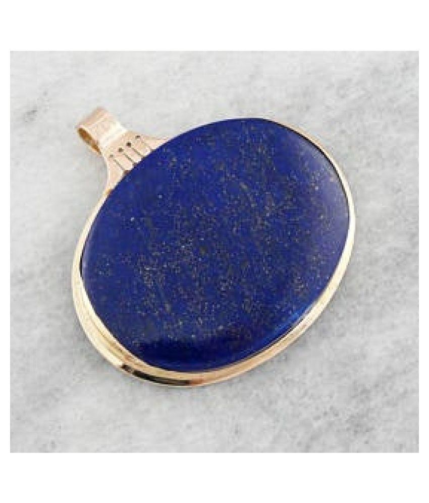 Original Created Certified Lapis lazuli Stone 2.25 Ratti  gold plated Pendant for Men & Womenby Kundli Gems