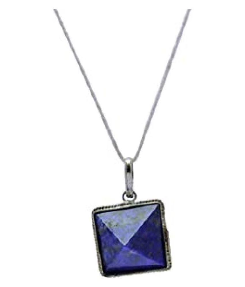 10 Ratti Lab Certified Stone 100% Original lapis lazuli  Silver Pendant for unisex by Kundli Gems\n