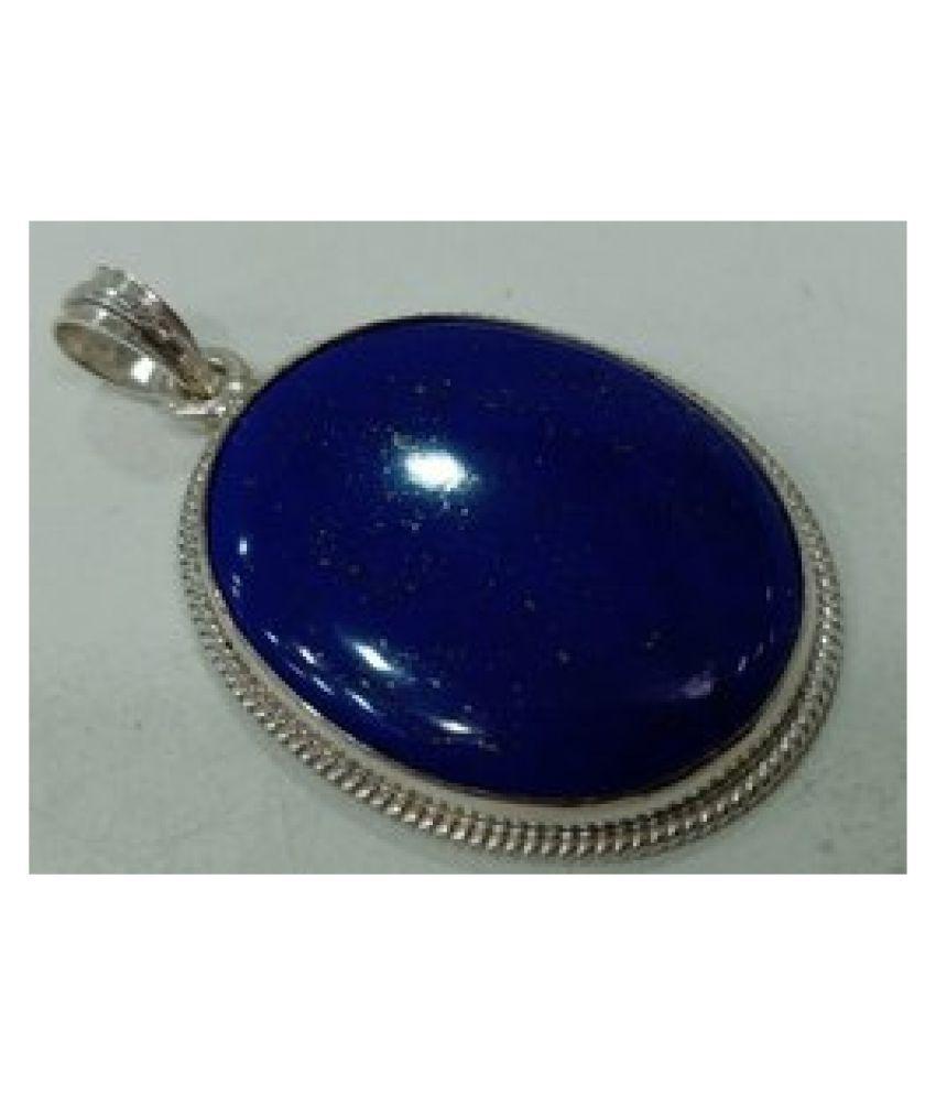 Unheated & Untreated lapis lazuli  silver Pendant100% Original & Certified Stone by Kundli Gems