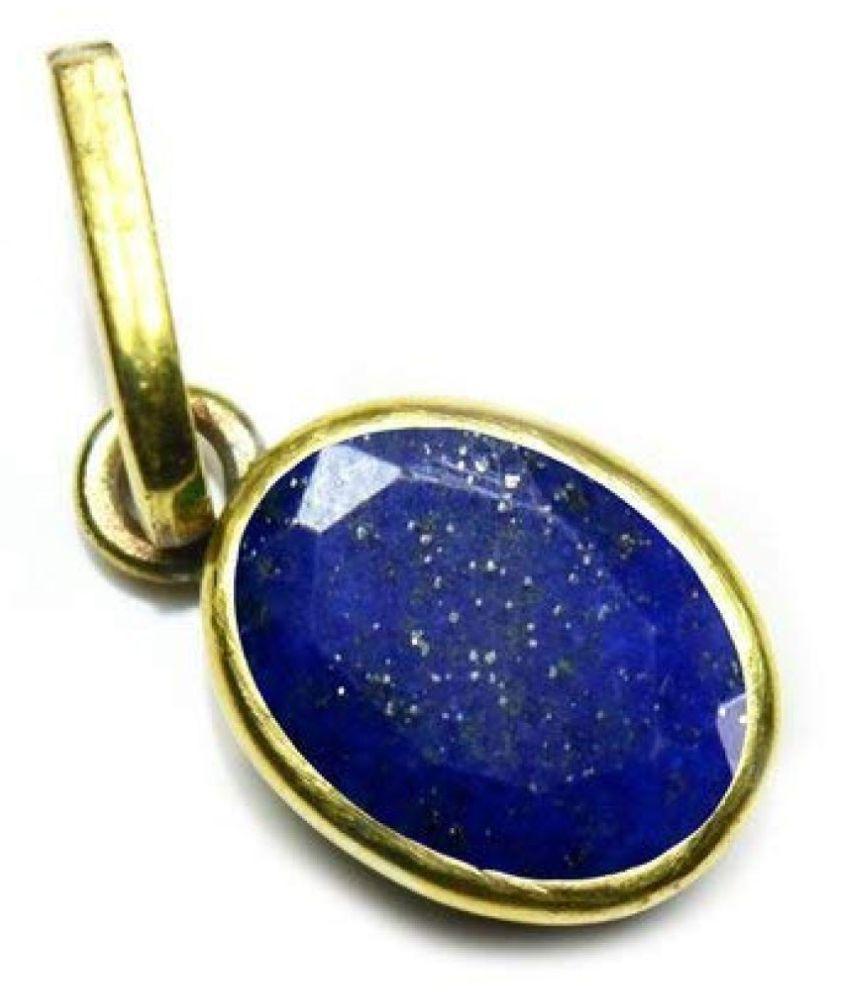 lapis lazuli Pendant with 100% Original Lab Certified Stone 8 Ratti gold plated Pendant by Kundli Gems