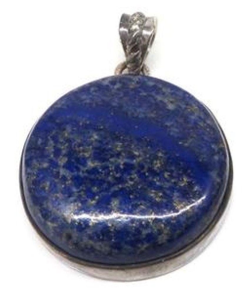 pure blue lapis lazuli Pendantin 12.5 carat silver by Kundli Gems