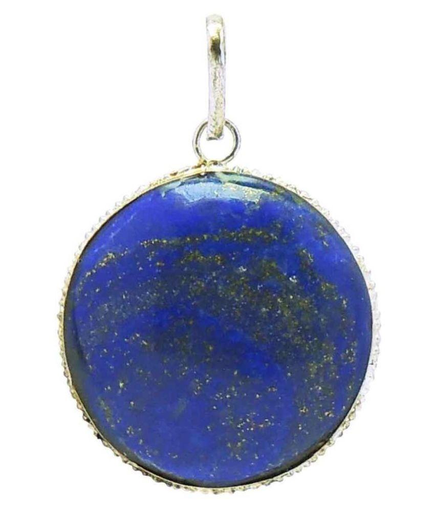 2 carat lapis lazuli Silver plated Pendantby   Ratan Bazaar
