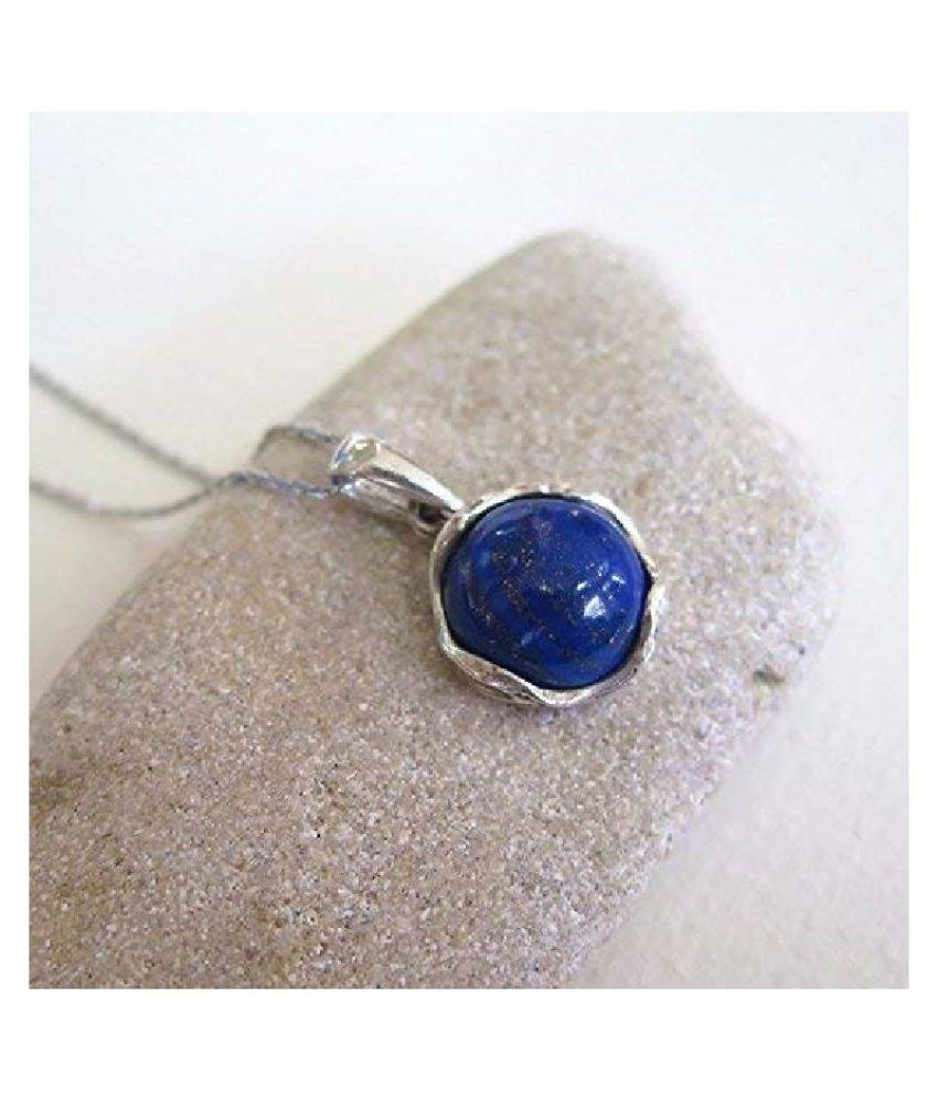 3 Ratti Silver Original lapis lazuli  Pendant Lab Certified Stone by  Ratan Bazaar\n