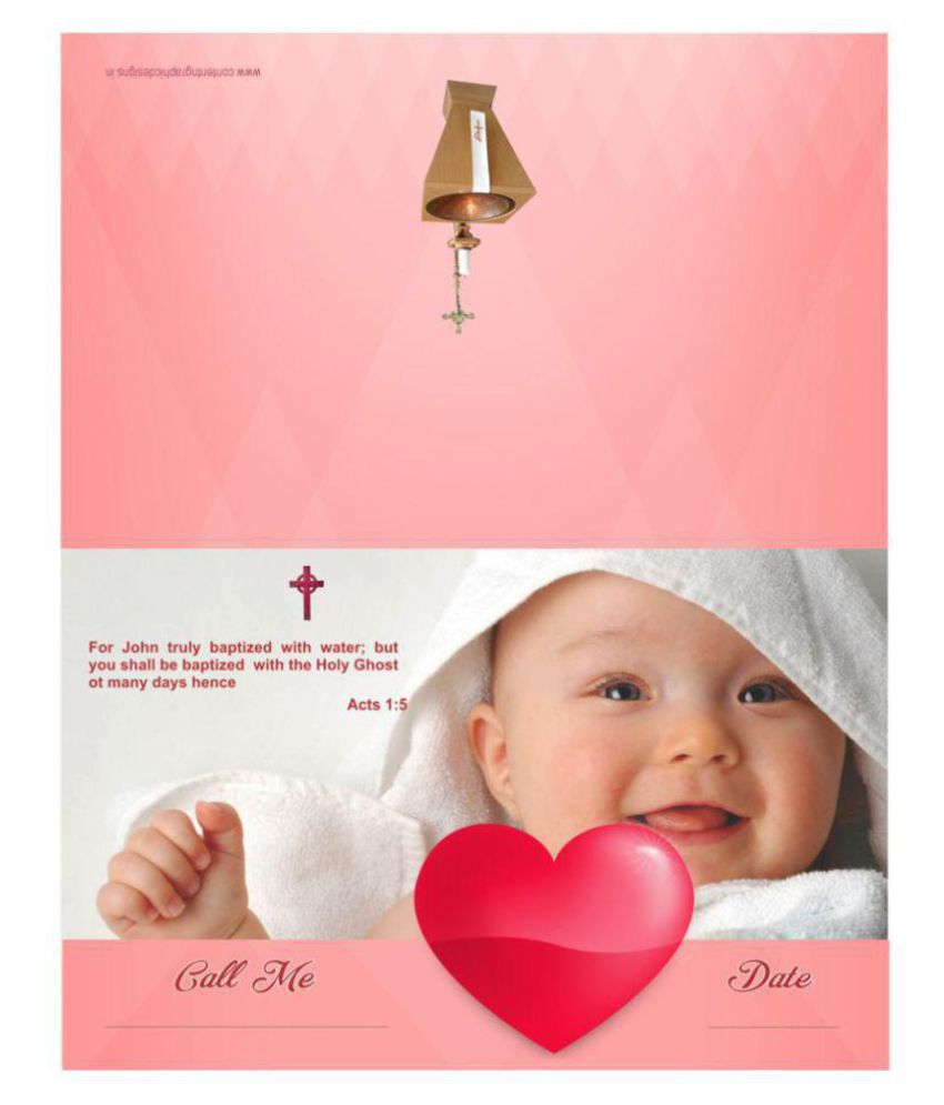 Baptism Or Christening Themed Pack of 32 Cards – Fill in Style