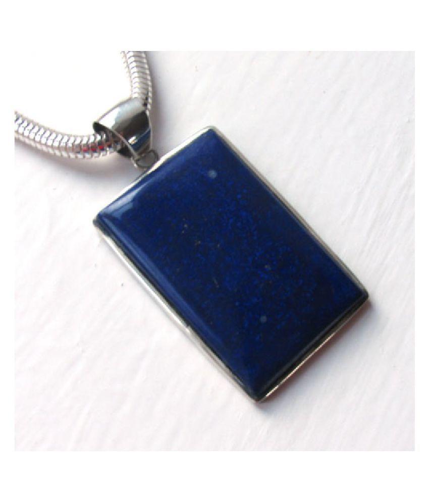 Pendant4 ratti Natural blue lapis lazuli stone silver Ringby  Ratan Bazaar for unisex