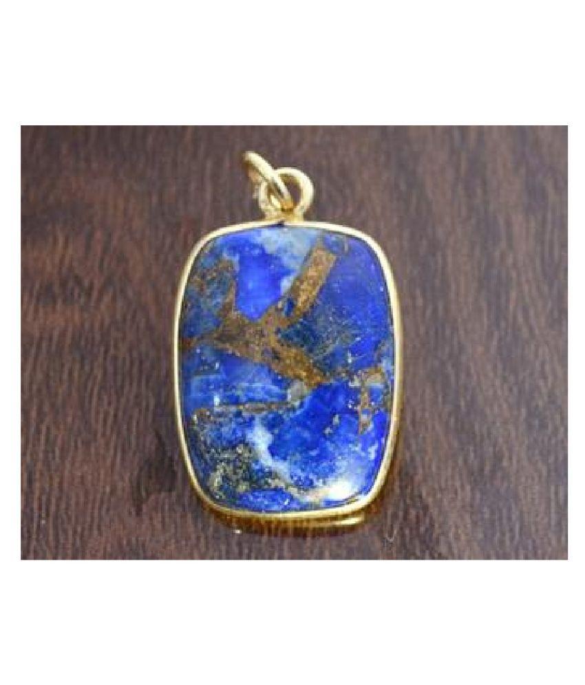 lapis lazuli Panchdhatu  4.5 Carat  gold plated Pendant By  Ratan Bazaar
