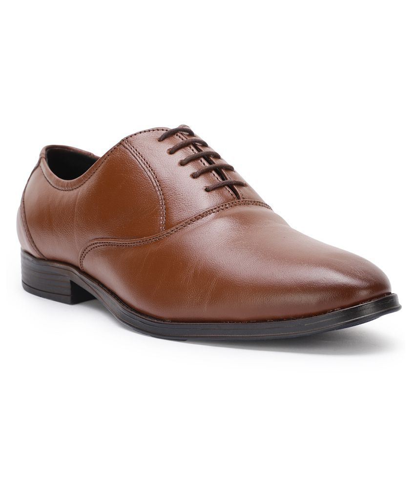 Bruno Manetti Derby Artificial Leather Tan Formal Shoes