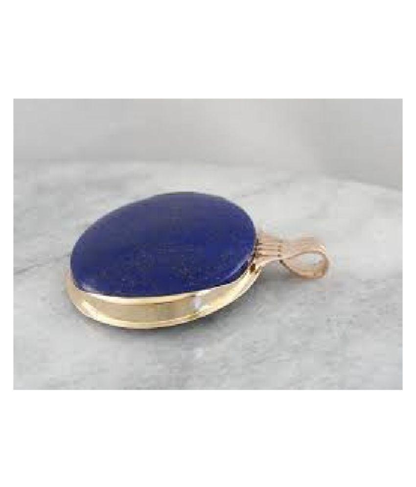 Natural 5 Carat IGI Lab Certified Lapis lazuli gold plated Pendant by  Ratan Bazaar