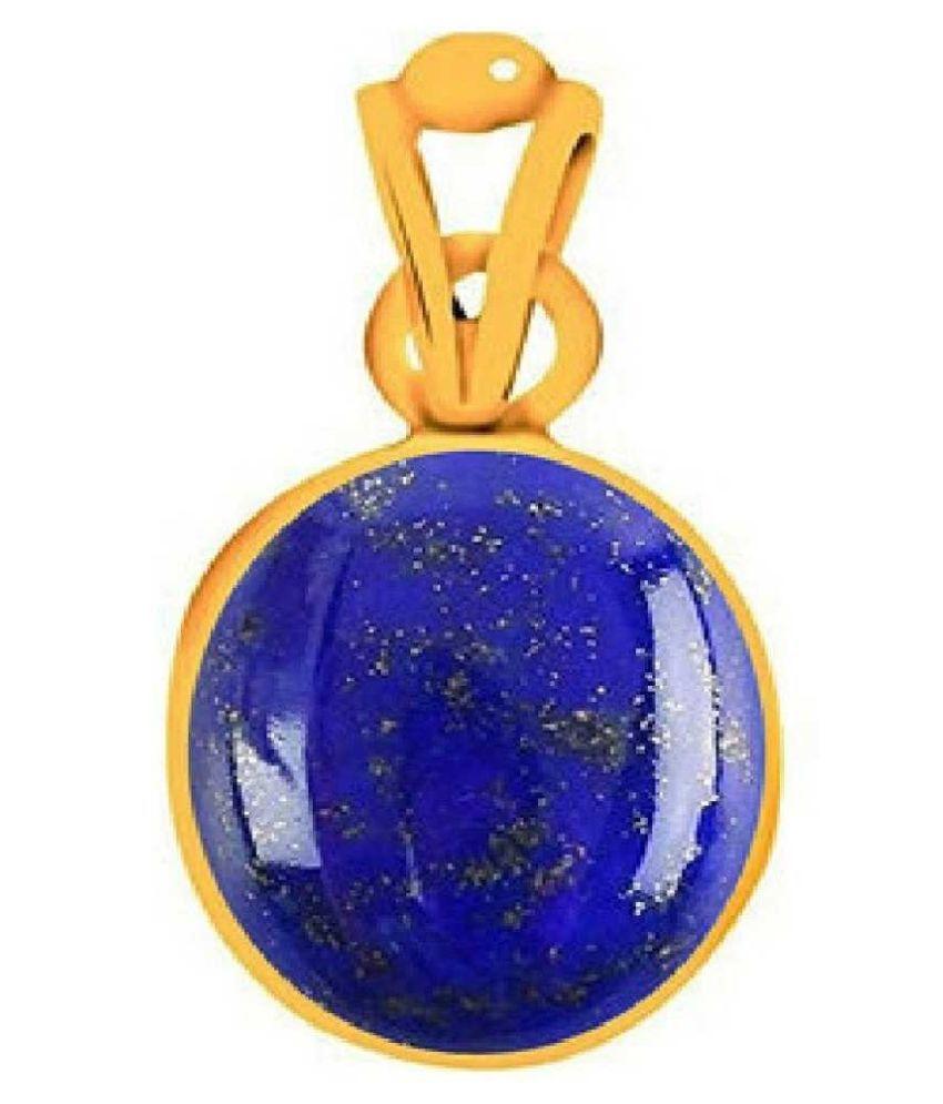 Natural & Unheated Stone 8 Ratti Lapis lazuli gold plated Pendant by  Ratan Bazaar