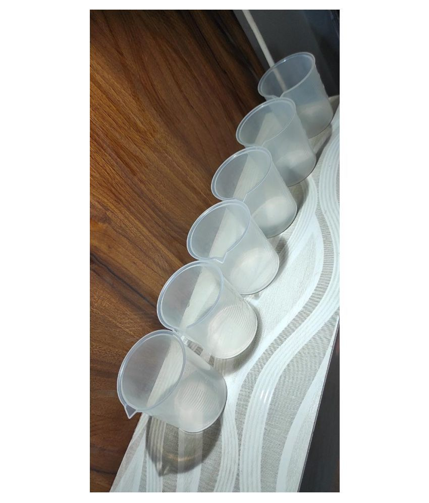 plastic beaker 100ml 6pcs pack