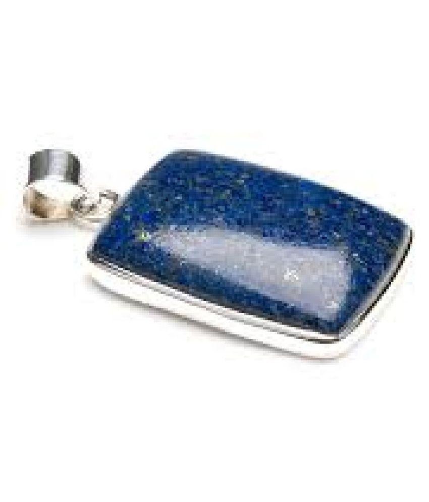 11.25 Ratti lapis lazuli  Pendant With Natural  silver Pendant by  Ratan Bazaar