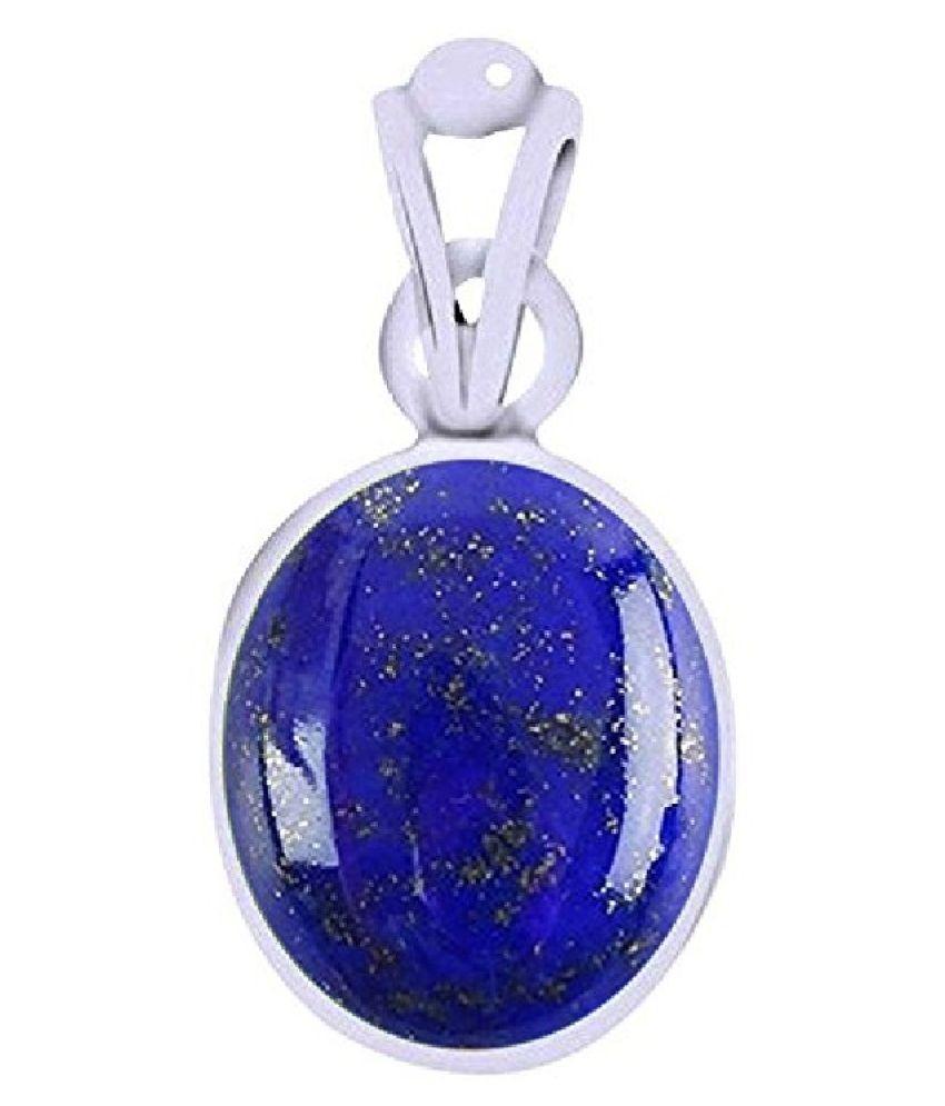 12.25 carat Natural Silver lapis lazuli  Pendant by   Ratan Bazaar\n
