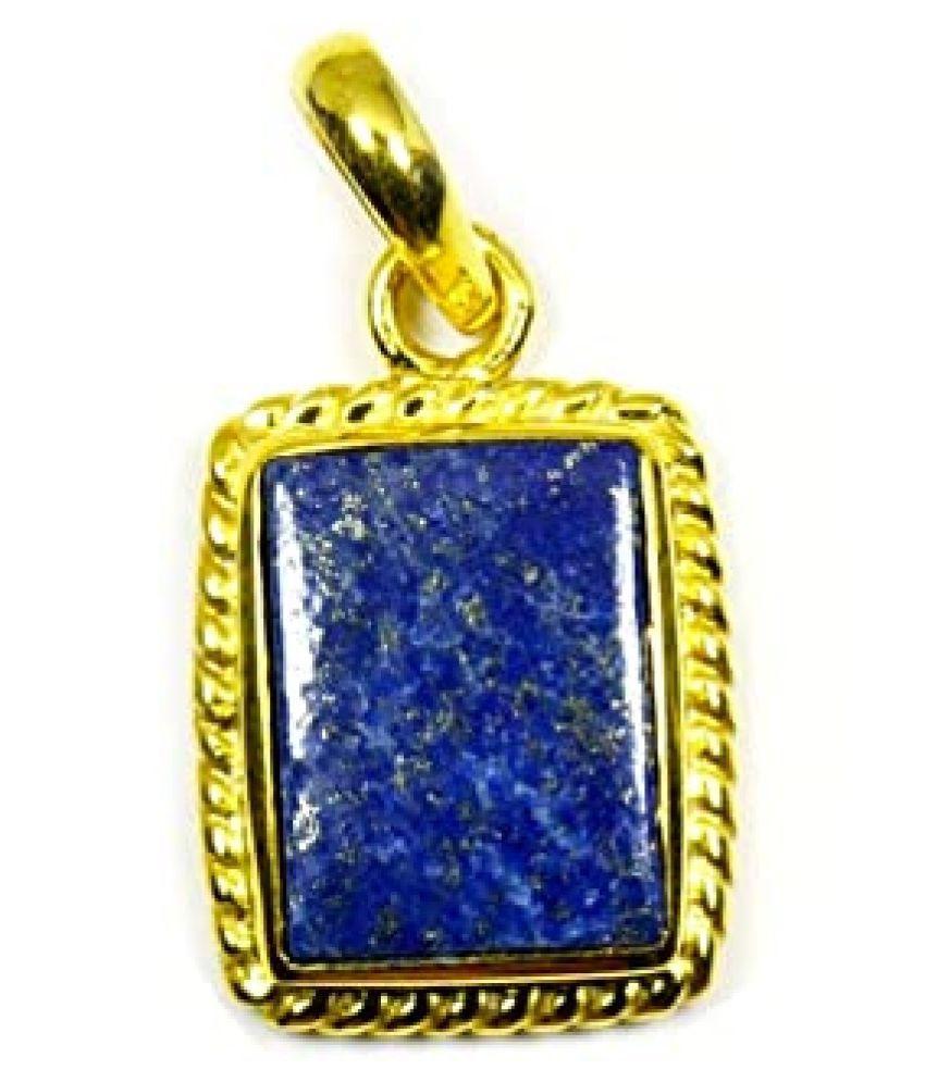 12.5 Ratti Lapis Lazuli asthdhaatu  Pendant for unisex gold plated Pendant by   Ratan Bazaar