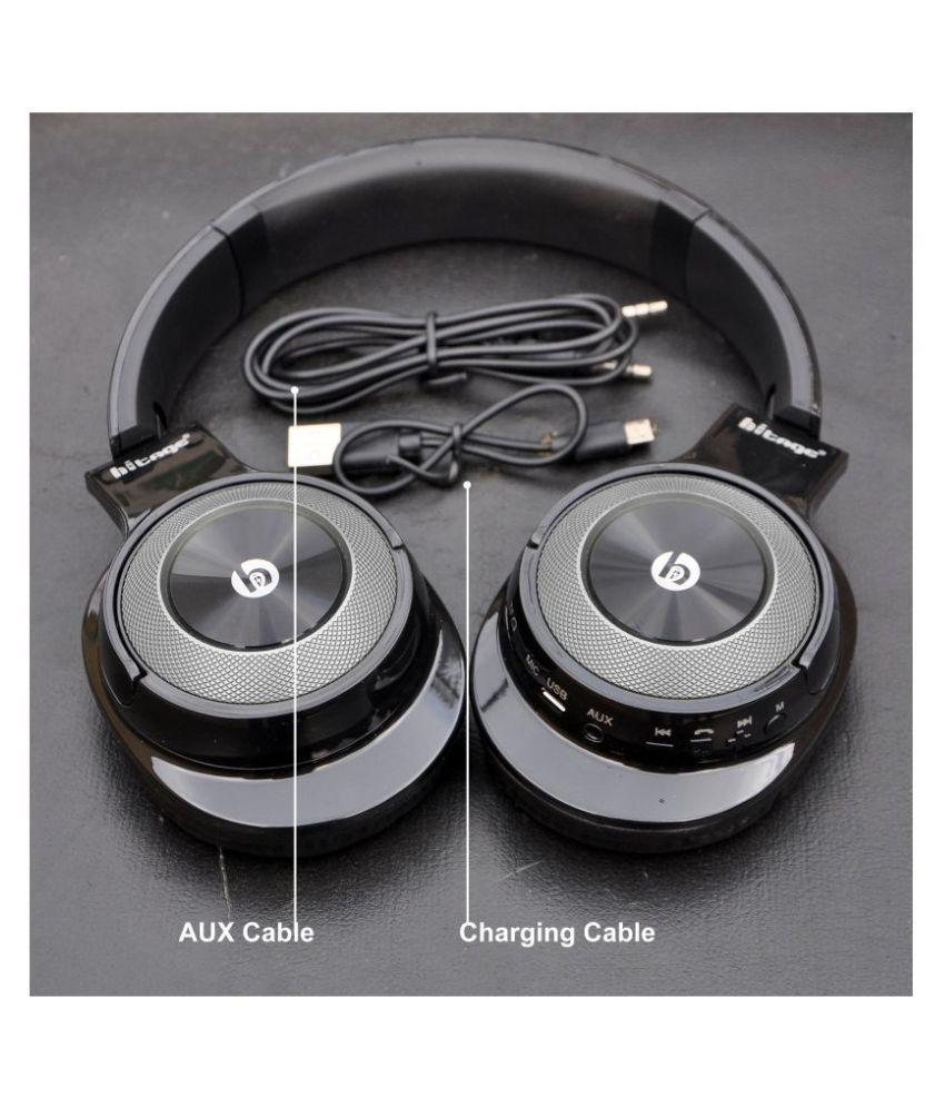 hitage Stereo Headphones Bluetooth Headset Over Ear Wireless With Mic Headphones/Earphones