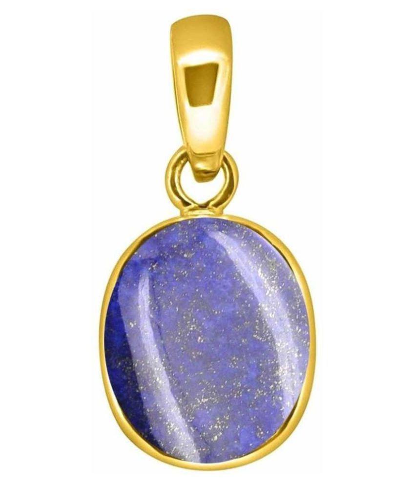 lapis lazuli Natural & Unheated Stone  12.5 Ratti Lapis lazuli gold plated Pendant by  Ratan Bazaar