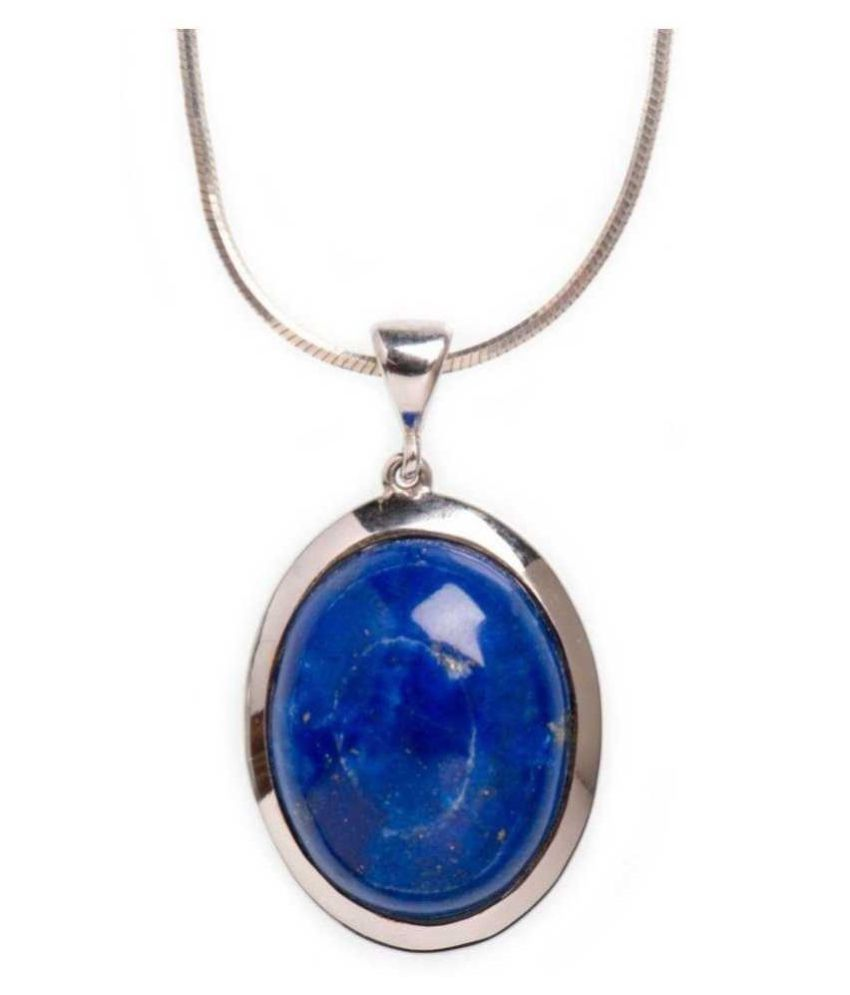 lapis lazuli  Pendant  12.25 Ratti 12.25 Original Silver lapis lazuli blue Stone by   Ratan Bazaar