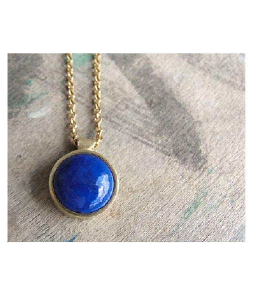 lapis lazuli Pendant12.5 Carat natural and Gemstone gold plated Pendant by  Ratan Bazaar