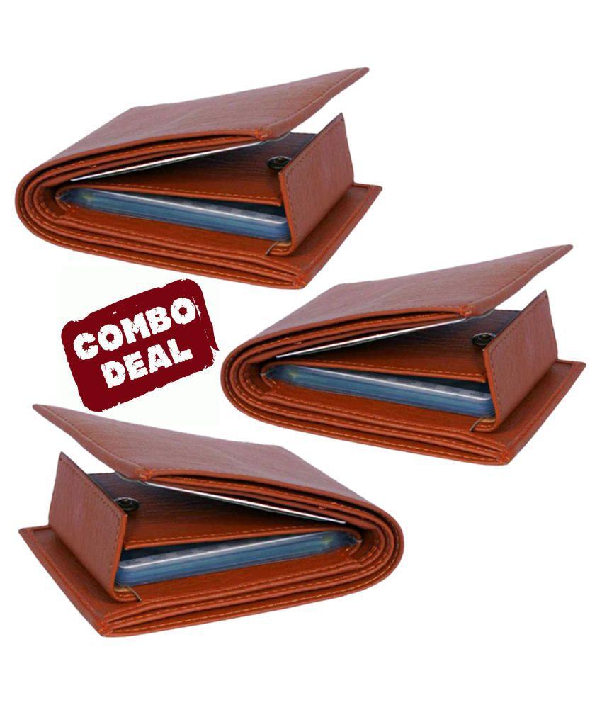 LUXIQE PU Tan Casual Regular Wallet