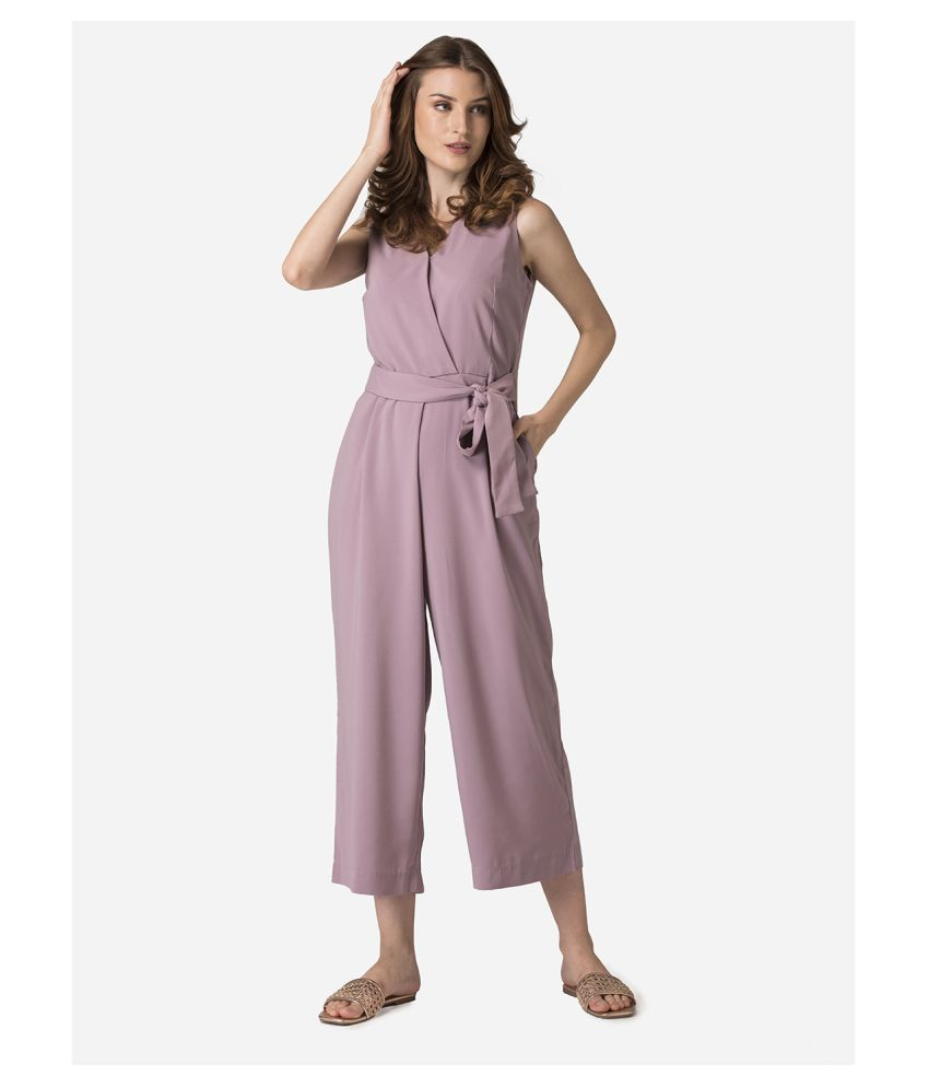 Mode By Red Tape Pink Polyester Jumpsuit