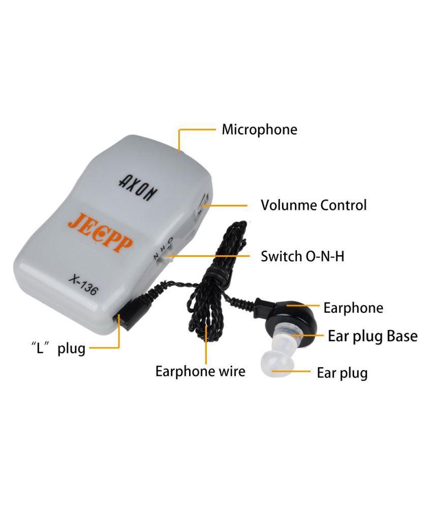RR HEARING AID X-136 Volume Adjustable Machine Ear Sound Voice Amplifier.