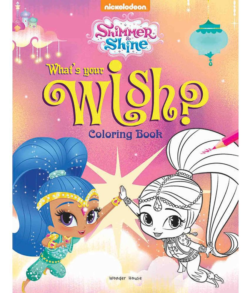 Genie Bling Coloring Book For Kids Shimmer Shine Buy Genie Bling Coloring Book For Kids Shimmer Shine Online At Low Price In India On Snapdeal