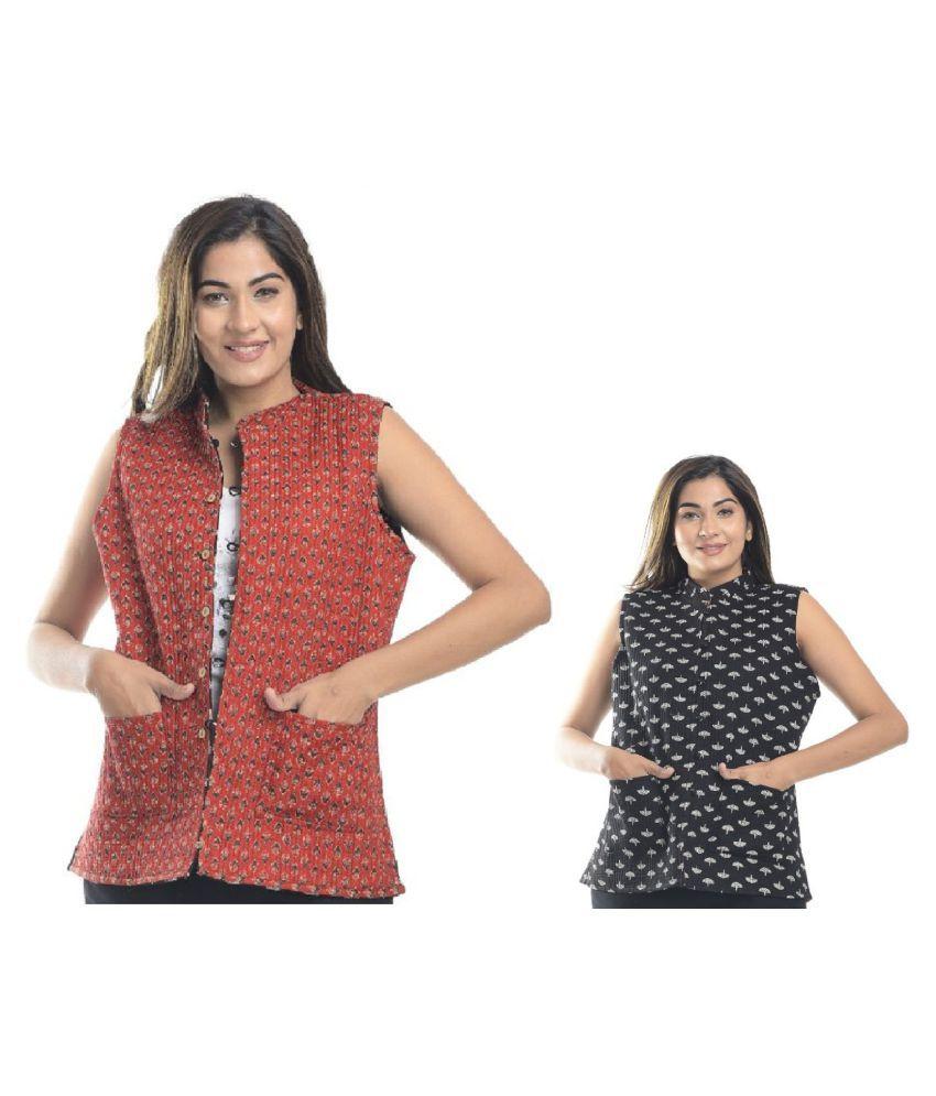 Apratim Cotton Multi Color Ethnic Jacket